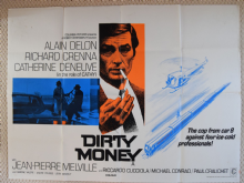 Dirty Money, UK Quad Poster, Alain Delon, Richard Crenna, '72